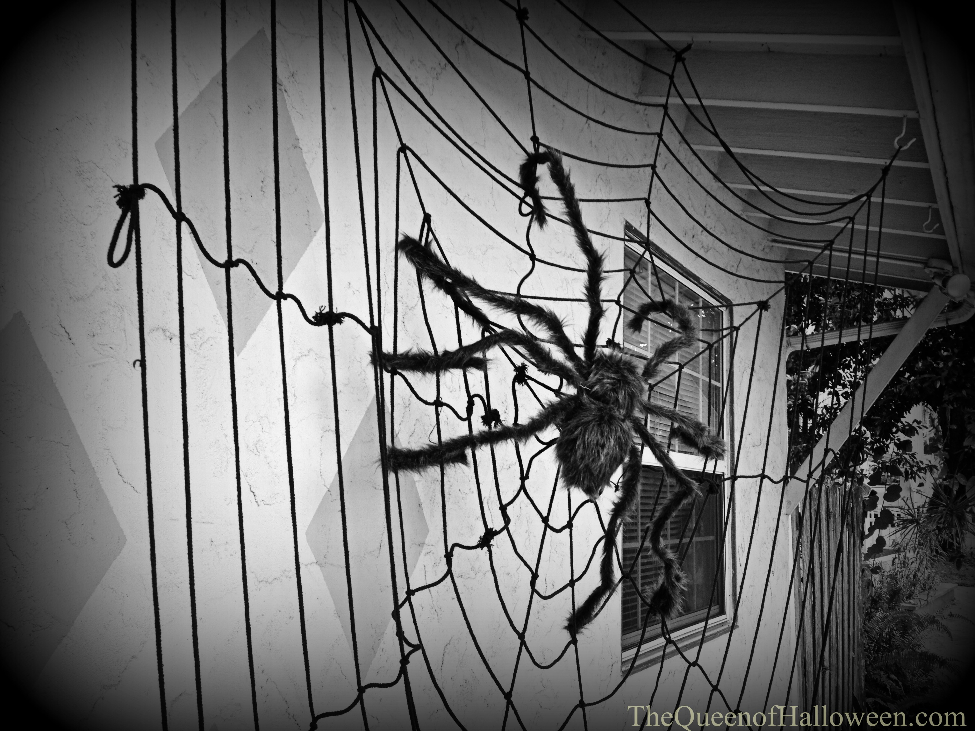 The Queen of Halloween outdoor spider decoration