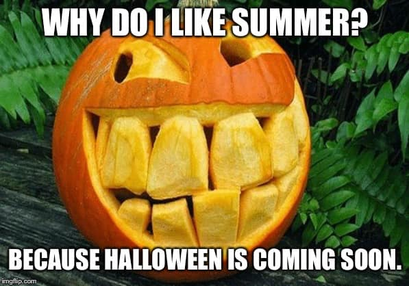 Love Summer Because Halloween is Coming meme